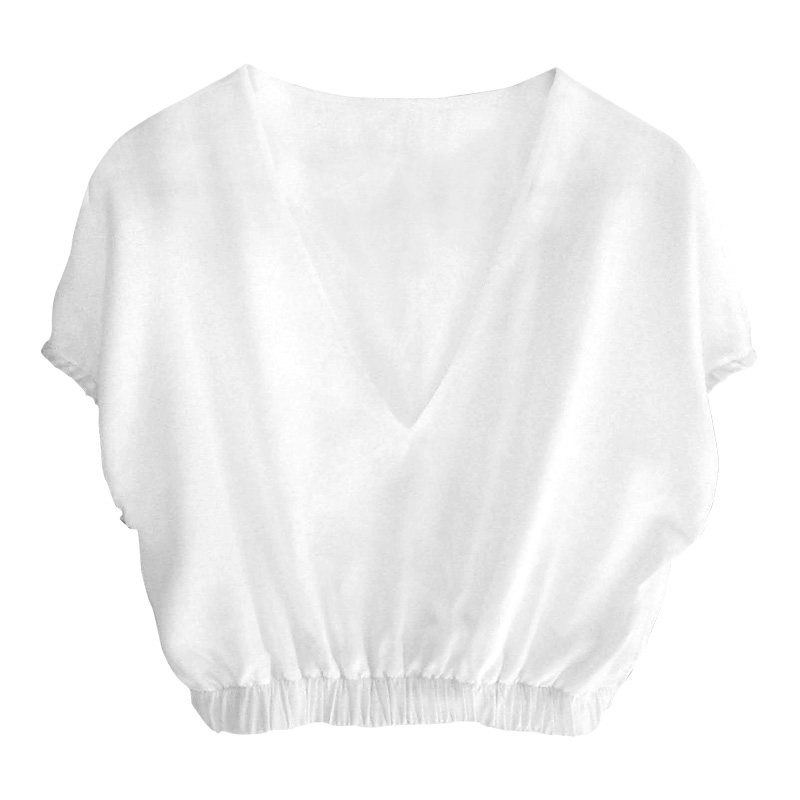 THE CROPPED LINEN TOP